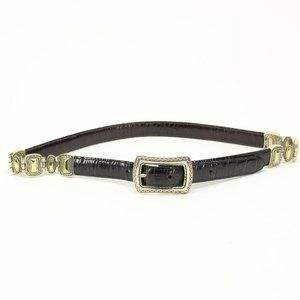 Vintage Brighton Black Brown Reversible Belt